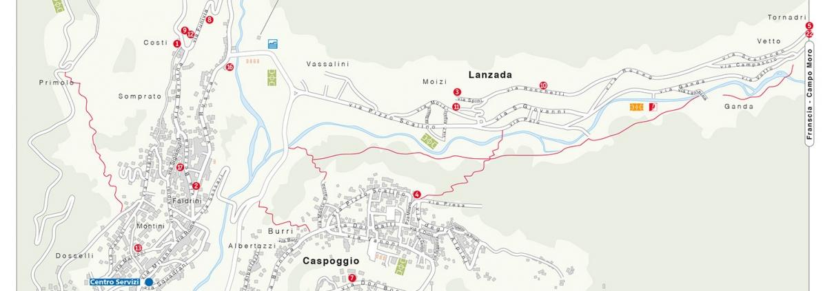Mappa Chiesa in Valmalenco
